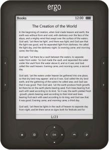 Ergo E-Ink 0612 - идеальная электронная читалка книг